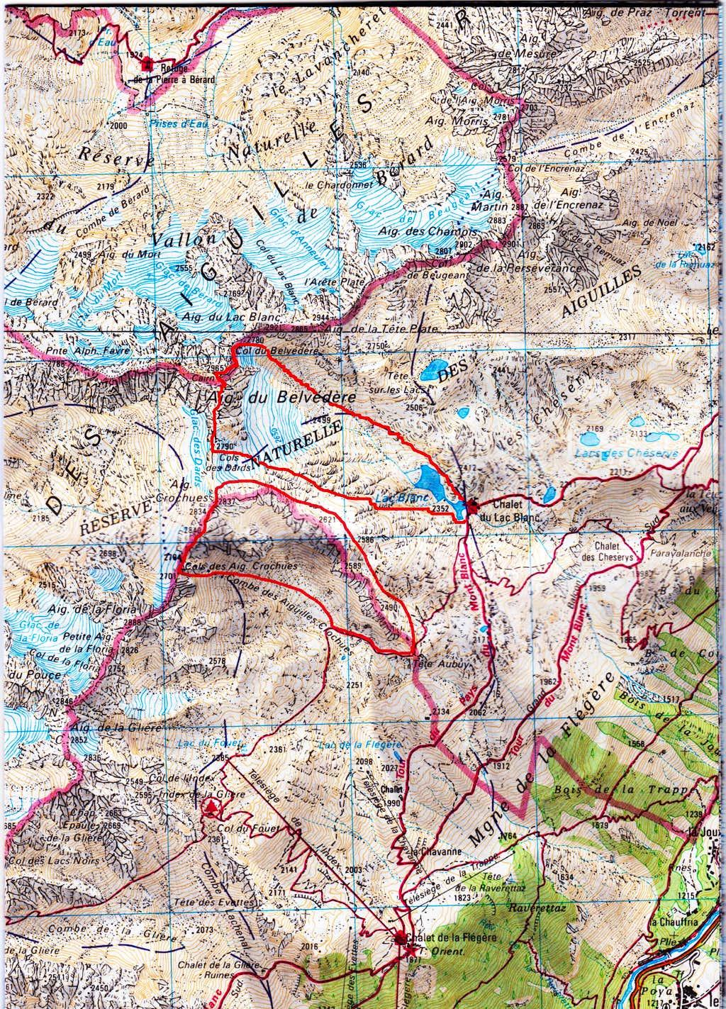 Traverse of Aiguilles Crochues and Aiguille du Belvedere