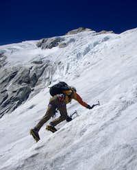 Ben on the lower west slopes of Huamashraju