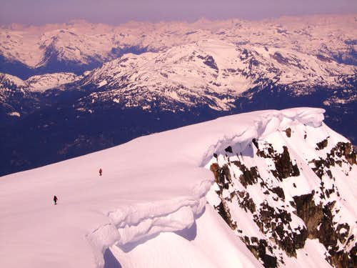 Wedge mountain cornice