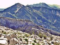 Boxelder Peak and Timpanogos from Bighorn Peak