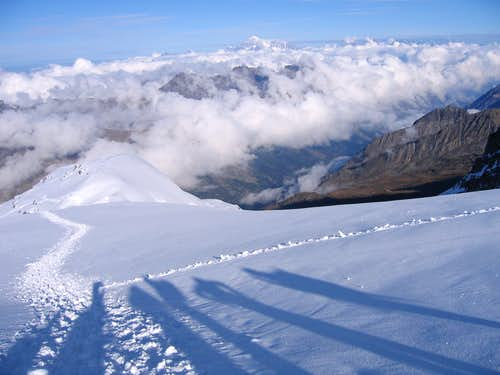 Long shadows on Gran Paradiso
