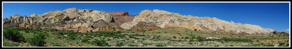 Waterpocket Fold Panorama from the Post corral