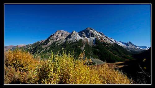 Pyramid Peak and Foliage