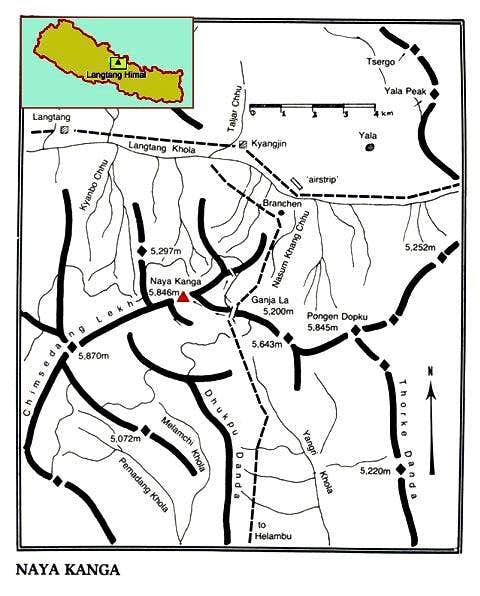 Overview map for Naya Kanga