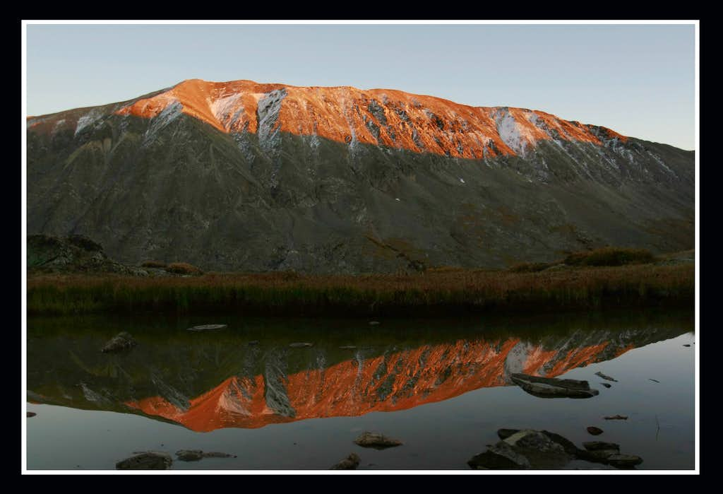 Mt. Lincoln alpenglow reflection