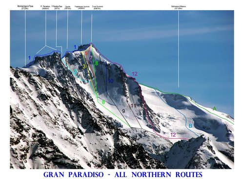 Gran Paradiso All Northern Routes