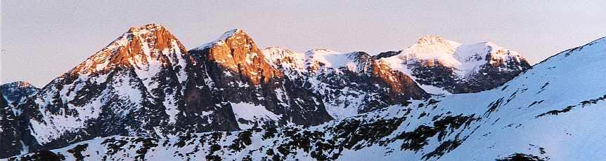Sunset from the Montségu, looking to the Haut Luchonnais peaks