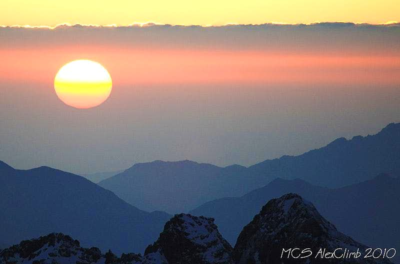 Sunset from the top of Toubkal