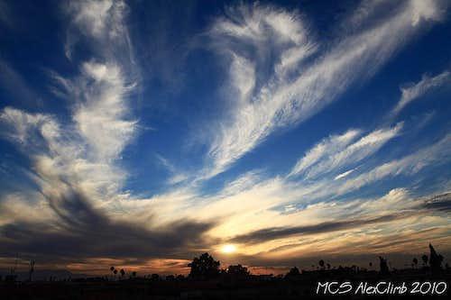 Sunset sky in Marrakesh