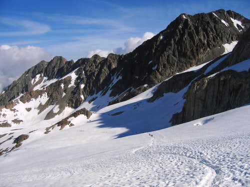 Descending to Albert Premier Refuge from Aiguille du Tour