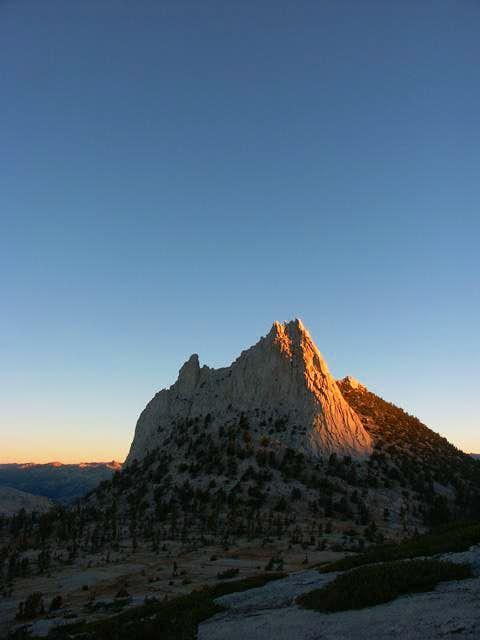 Cathedral Peak at sunrise -...