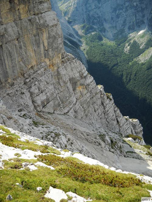 The huge north face of triglav begins here