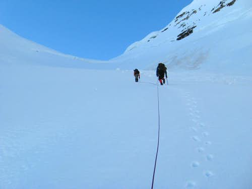Climbing the North Glacier