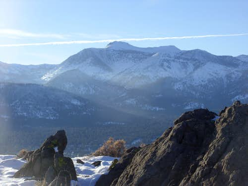 Mount Rose 10,776' from the south summit of the Steamboat Hills