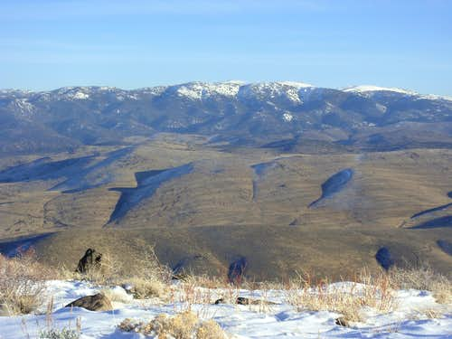 Ophir Hill 7782' from the Steamboat Hills