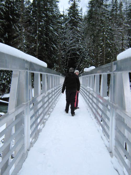 Bridge on trail to Ice Caves