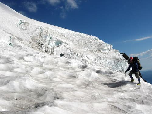 Coming down the headwall