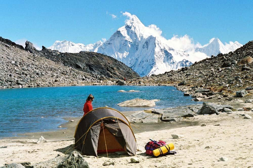 Ama Dablam from Lobuche East base campAma Dablam Base Camp