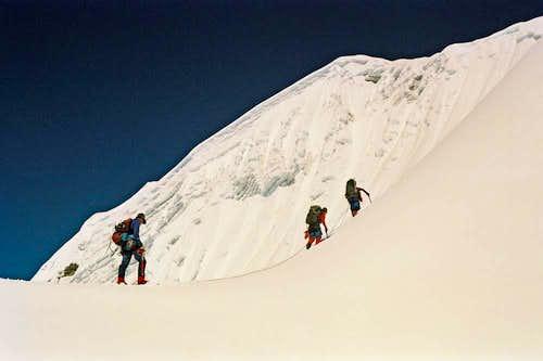 Gaining the Southeast Ridge of Lobuche East