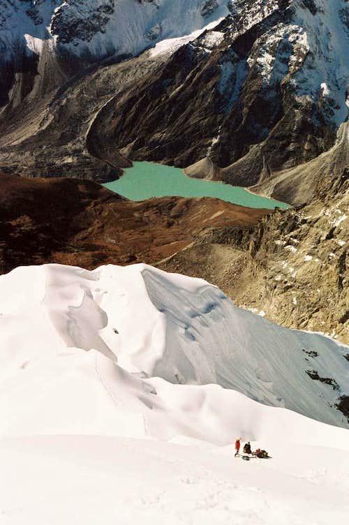 The summit ridge of Lobuche East