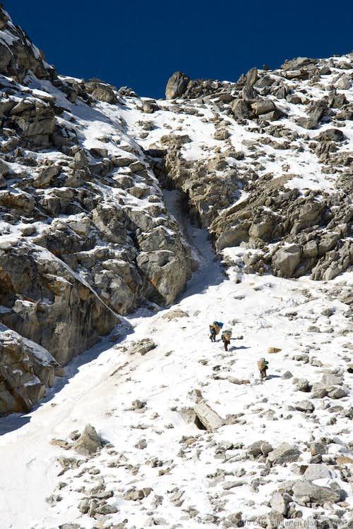 Ascending the Ganja-La pass