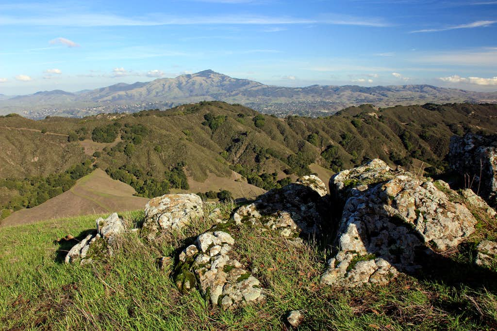 Mt. Diablo, 3,849'  from Rocky Ridge north summit