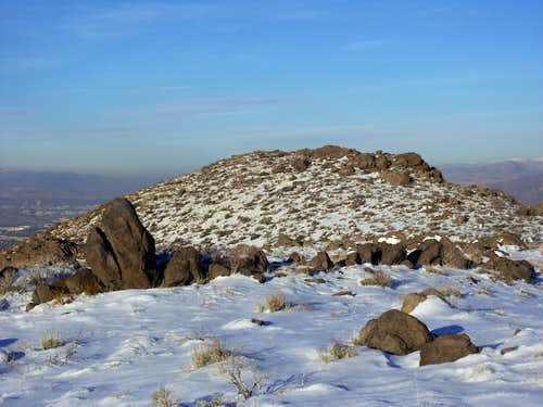 Looking north to the true summit