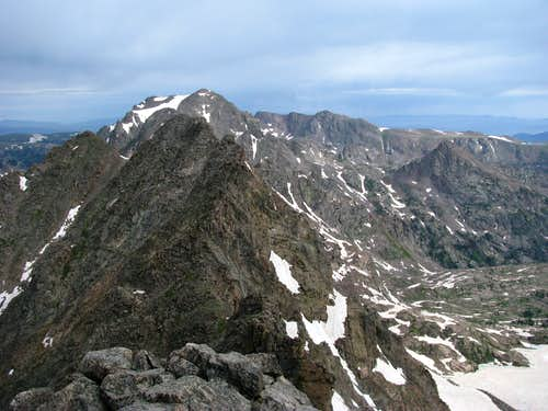 View of Peak E from Summit Peak F