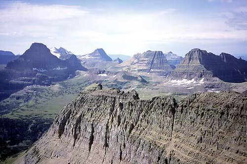 The view of Logan Pass from...