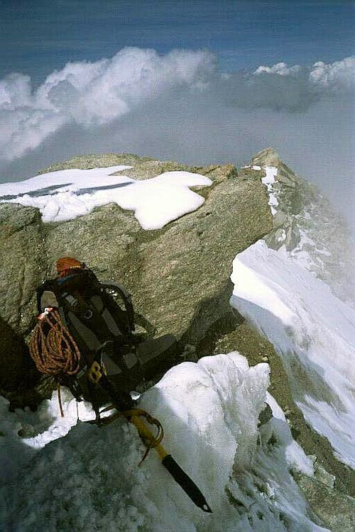 View of the North Ridge from the summit