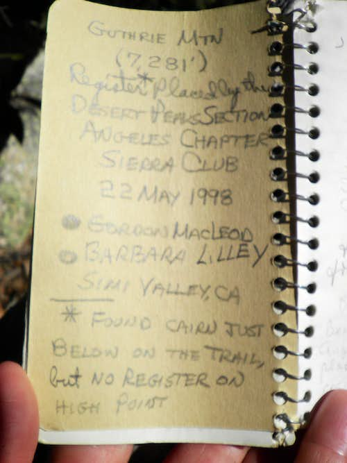 1998 Summit Register