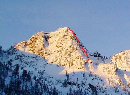 NE Face of Bryant Peak
