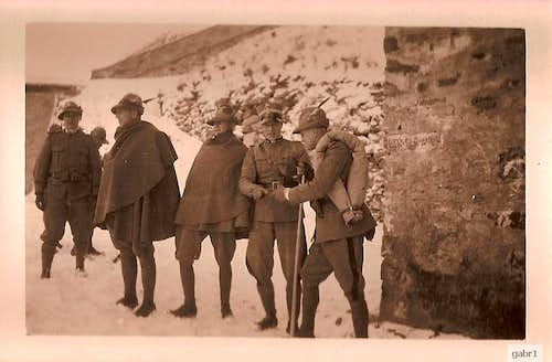 Italian alpini officers