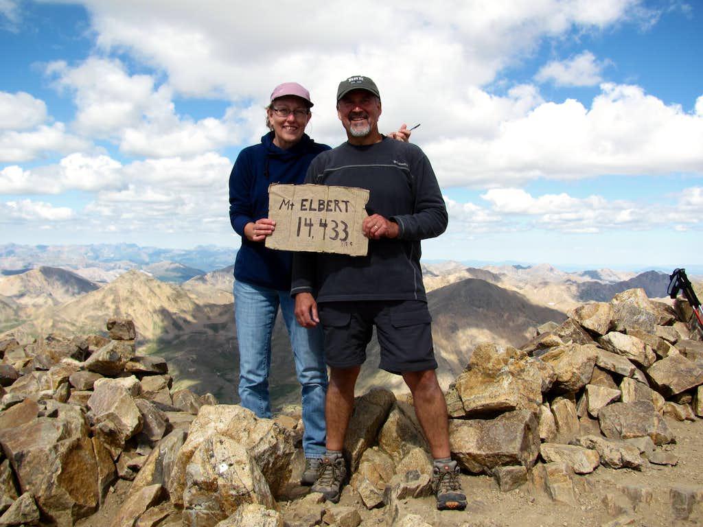 Mt Elbert summit