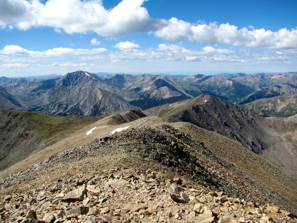 Mt Elbert summit looking west