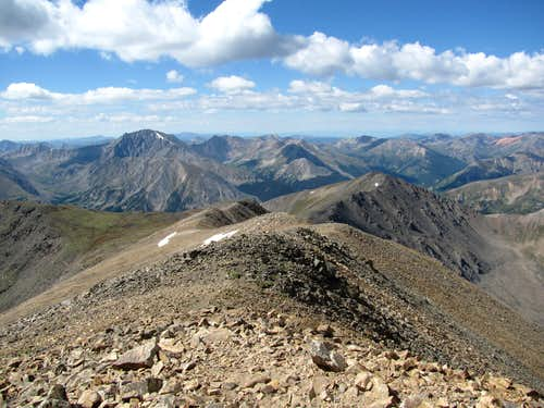 Mt Elbert summit looking west