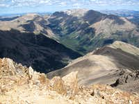 Mt Elbert summit lookoing north