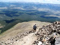 Mt Elbert descent