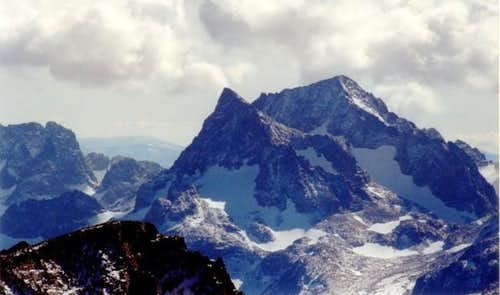 Banner Peak (center) and...