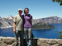 Brittany and I at Crater Lake