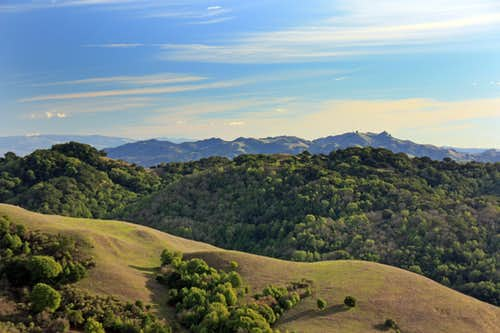 Las Trampas Ridge and Rocky Ridge on the horizon