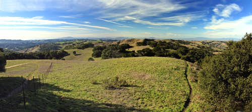 Briones Peak west view