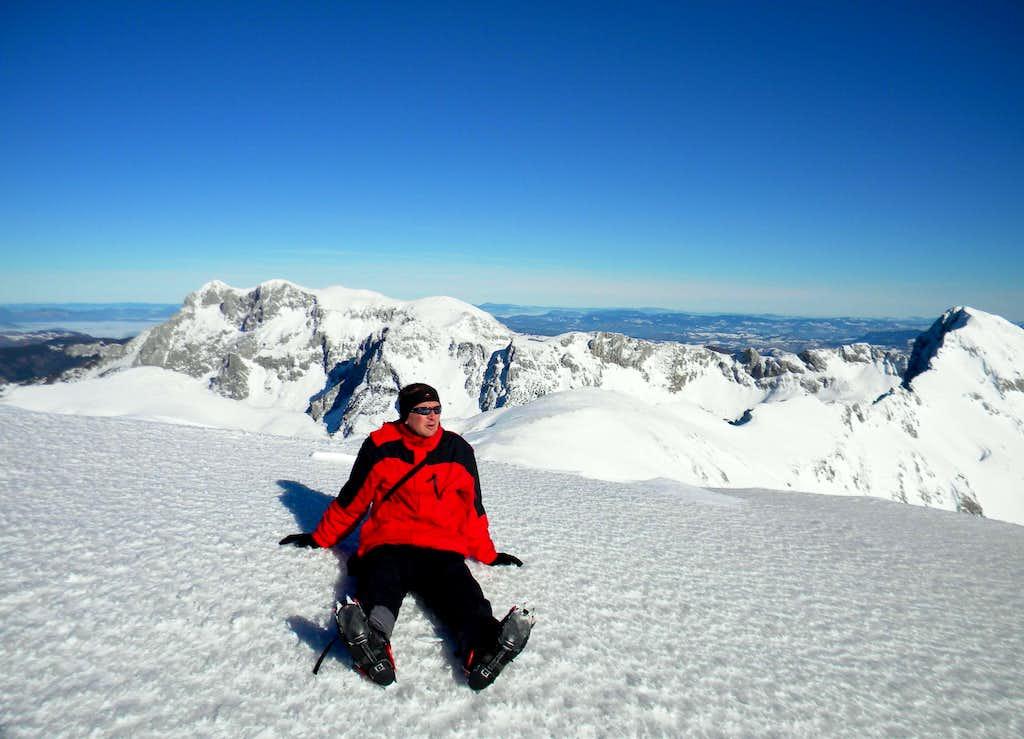 Enjoying at the summit