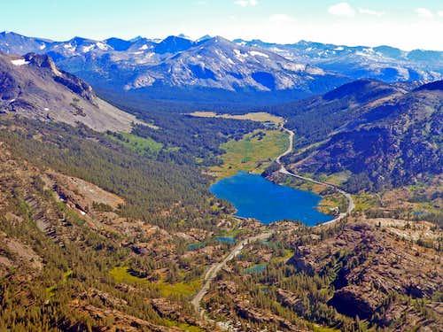 Tioga Pass area from Tioga Peak