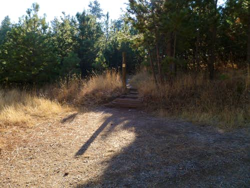 Where the Old Mesa Trail leaves the Mesa Trail