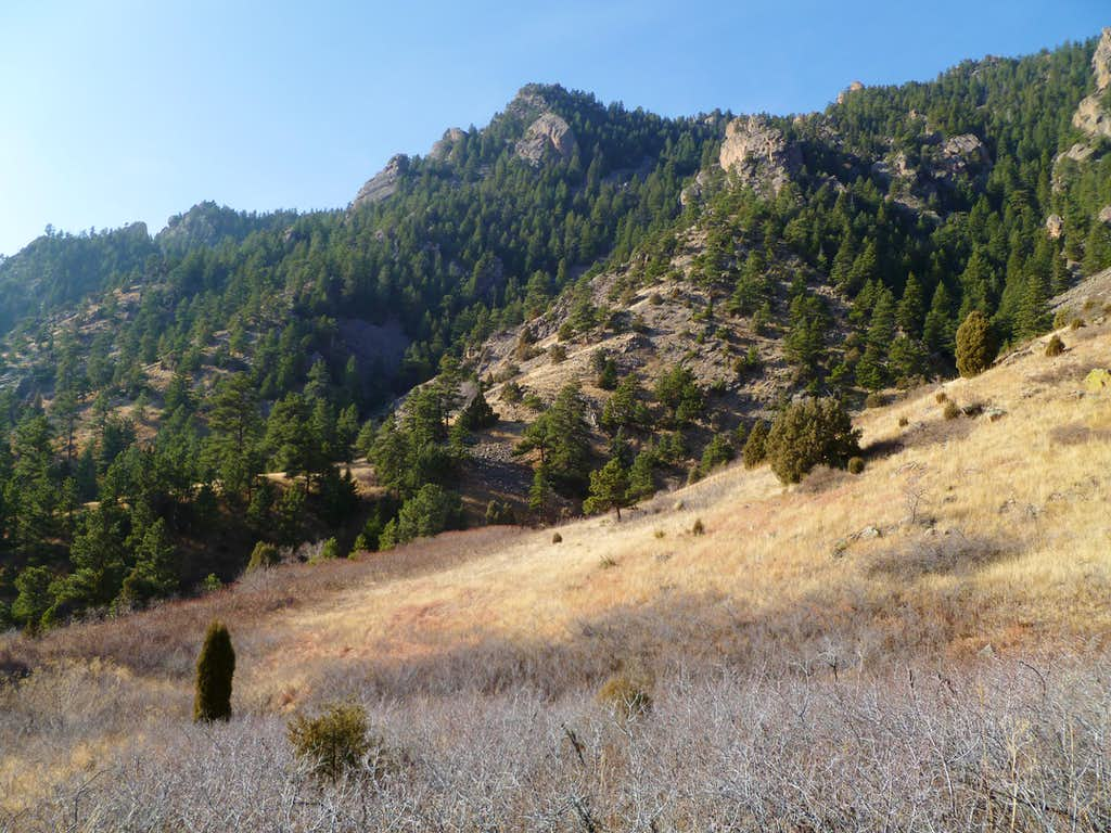 Shirttail Peak from the Old Mesa Trail