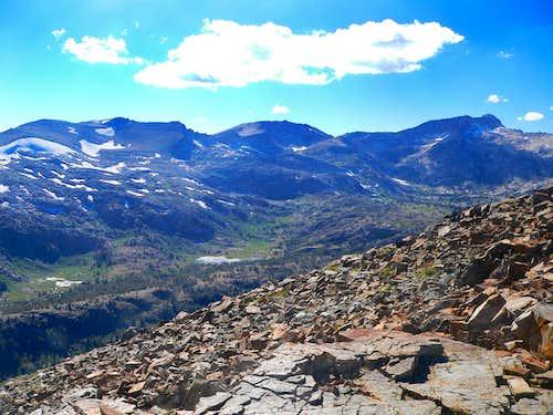 Sierra crest from Tioga Peak