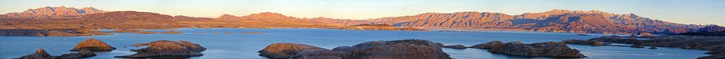 Sunset on Lake Mead