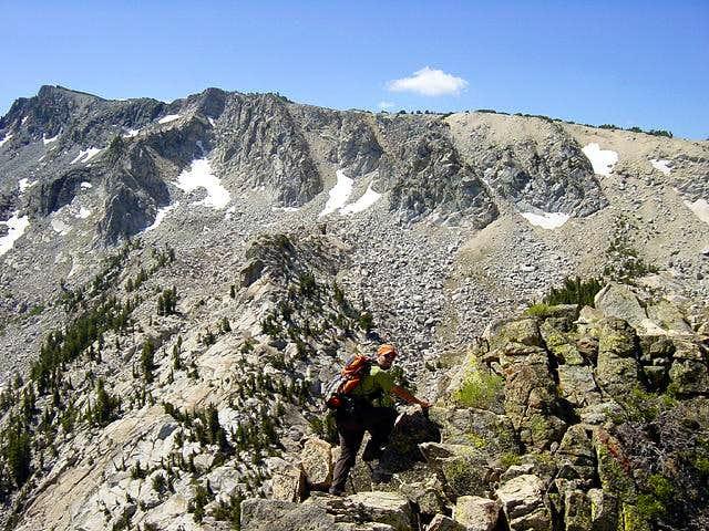 Climbing on the South Ridge...