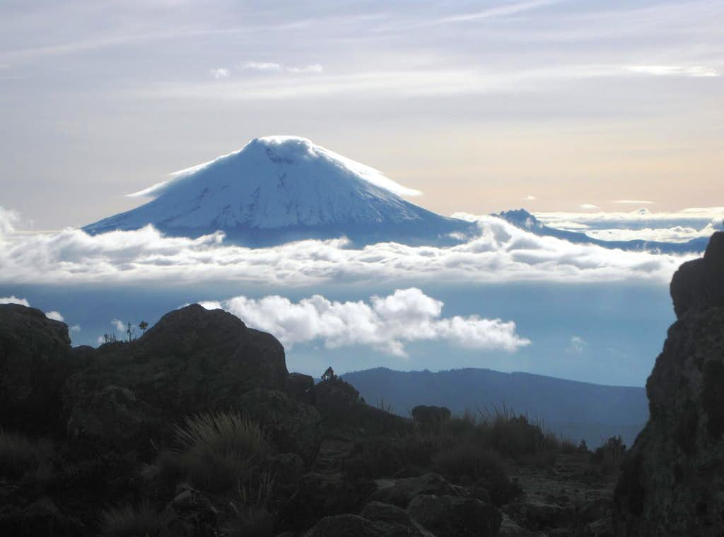Cotopaxi, seen from the approach to the Ilinizas